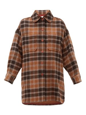 See By Chloe checked wool-blend flannel shirt jacket
