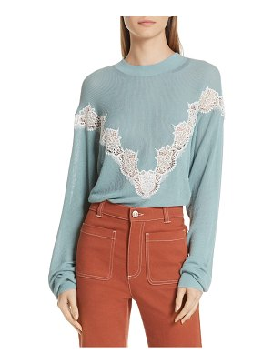 See By Chloe chevron lace sweater