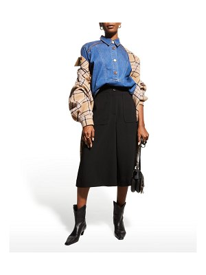 See By Chloe Collared Denim Button-Front Shirt