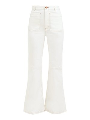 See By Chloe contrast stitch high rise flared jeans