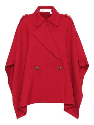 See By Chloe Cotton-blend poncho jacket