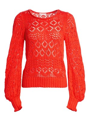 See By Chloe cotton lacey eyelet knit sweater