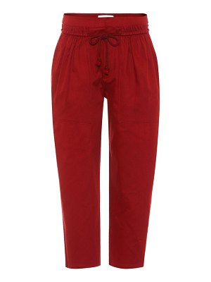 See By Chloe cotton twill cropped trousers