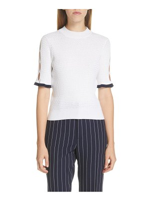 See By Chloe cutout pointelle sweater