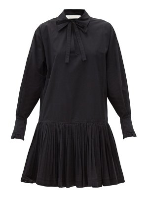 See By Chloe dropped-waist cotton shirt dress