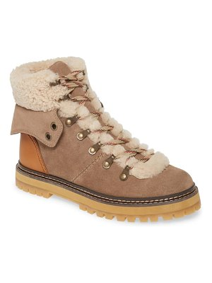 See By Chloe eileen genuine shearling hiking boot