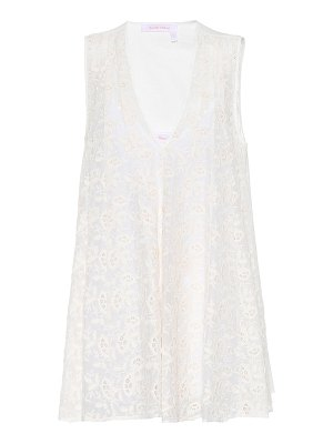See By Chloe Embroidered cotton and silk top