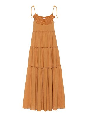 See By Chloe embroidered cotton maxi dress