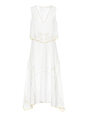 See By Chloe embroidered cotton midi dress