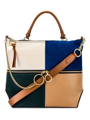 See By Chloe emy large suede & leather satchel