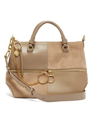 See By Chloe emy suede and leather tote bag