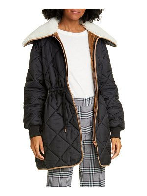 See By Chloe fleece collar quilted coat
