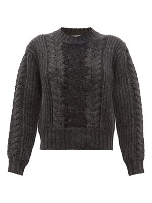 See By Chloe floral lace insert wool blend sweater