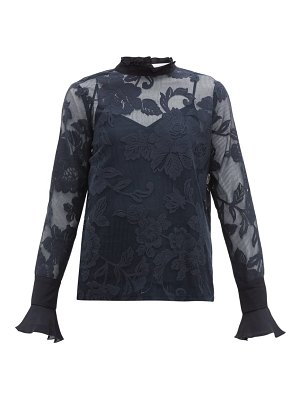 See By Chloe floral lace mesh blouse