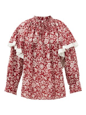 See By Chloe floral-print cotton-voile blouse