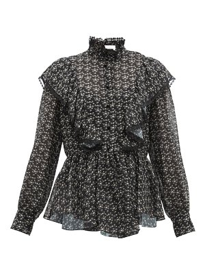 See By Chloe floral-print ruffled crepe blouse