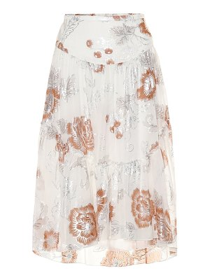 See By Chloe floral silk and cotton midi skirt