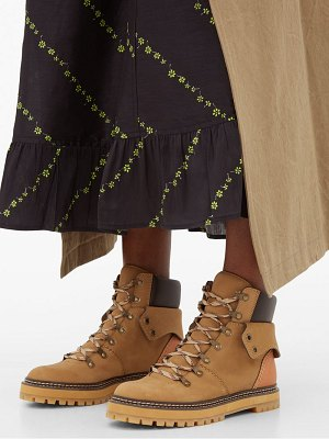 See By Chloe foldover suede hiking boots