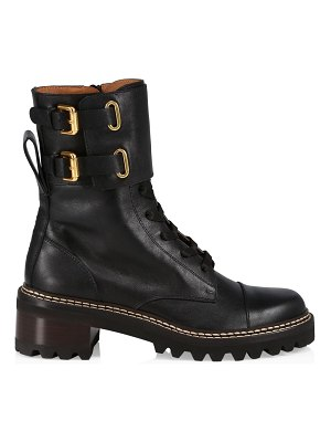See By Chloe gema leather combat boots