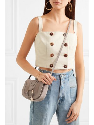 See By Chloe hana mini textured-leather and suede shoulder bag