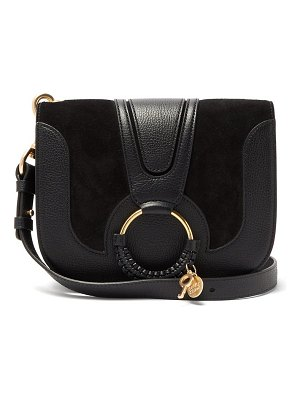 See By Chloe hana small suede and leather cross-body bag