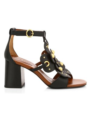 See By Chloe haya floral leather sandals