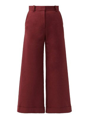 See By Chloe high-rise cotton-blend culottes