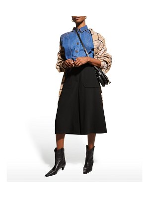 See By Chloe High-Rise Culottes w/ Topstitching