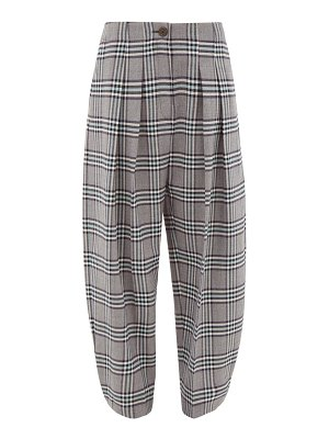 See By Chloe high-waist tapered checked-twill trousers