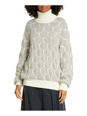 See By Chloe honeycomb turtleneck sweater