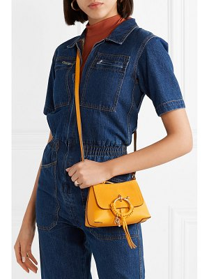 See By Chloe joan mini textured-leather and suede shoulder bag