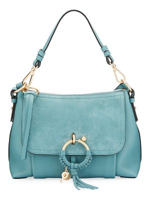 See By Chloe Joan Small Mixed Leather Crossbody Bag