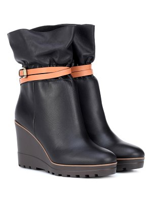 See By Chloe Robin leather wedge ankle boots