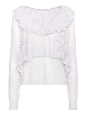 See By Chloe knitted mohair-blend top