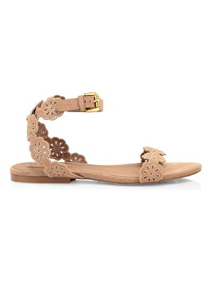 See By Chloe kristy flat floral suede sandals