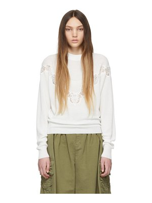 See By Chloe white lace detail sweater