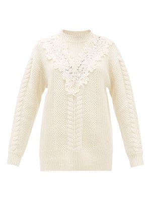 See By Chloe lace insert wool blend sweater