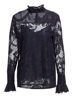 See By Chloe lace overlay long-sleeve blouse