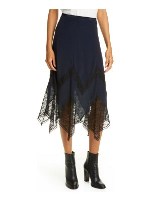 See By Chloe lace trim handkerchief hem skirt