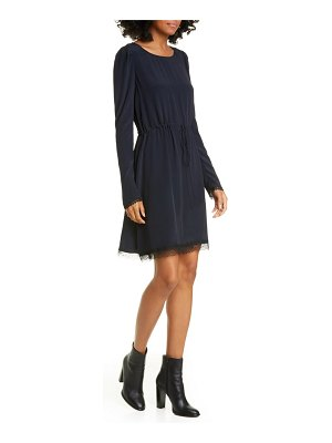 See By Chloe lace trim long sleeve minidress
