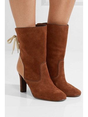 See By Chloe lara leather-trimmed suede ankle boots