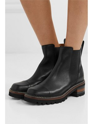 See By Chloe leather chelsea platform boots