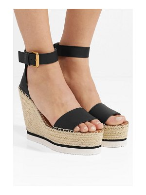 See By Chloe leather espadrille wedge sandals