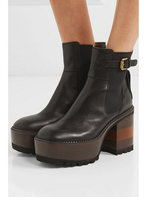 See By Chloe leather platform ankle boots