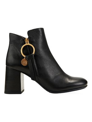 See By Chloe louise block-heel leather ankle boots