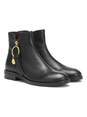 See By Chloé louise flat leather ankle boots