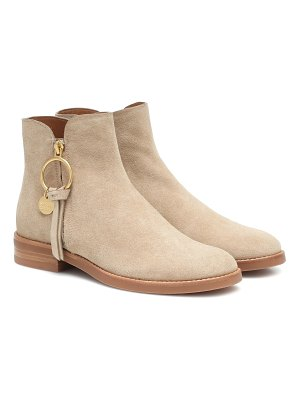 See By Chloé louise flat suede ankle boots