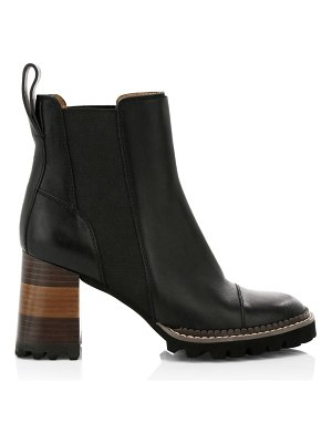 See By Chloe lug sole chelsea boots