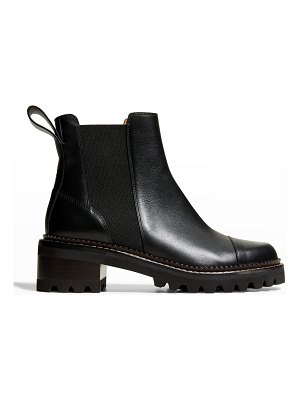 See By Chloe Mallory Leather Chelsea Booties
