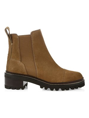See By Chloe mallory leather lug sole chelsea boots